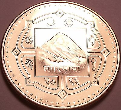 Gem Unc Nepal VS2603 (2006) 2 Rupees~Mount Everest~Water Buffalo~Free Shipping