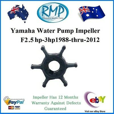 A Brand New Yamaha Water Pump Impeller F2.5hp-3hp 1988-thru-2012 R 6L5-44352-00