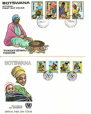 Botswana Fdc 1986-7 Milk And Unicef