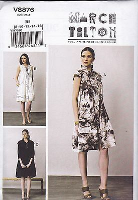 Vogue Sewing Pattern Misses' March Tilton Loosing Fitting Dress  8 - 24 V8876