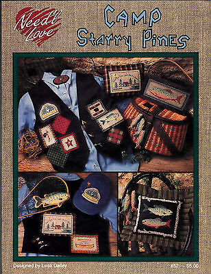NEED'L LOVE CAMP STARRY PINES COUNTED CROSS STITCH PATTERN LEAFLET