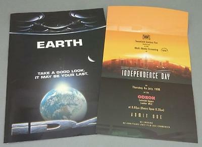 Independence Day Book Sci-fi 1996 ID4 Promo Brochure & Press Screening Ticket