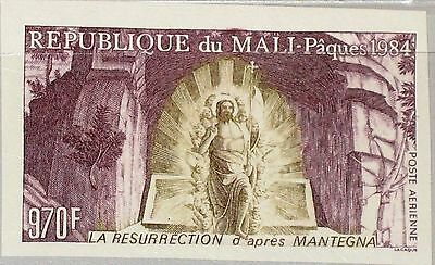 MALI 1984 1000 U C502 IMPERF Easter Ostern Religion Resurrection Mantegna MNH