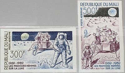 MALI 1989 1117-18 U C548-49 20th Ann 1st Man on the Moon Space Weltraum Mond MNH