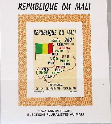 MALI 1995 Block N 68 Präsidentenwahl Wahlen Election Country Map Karte MNH