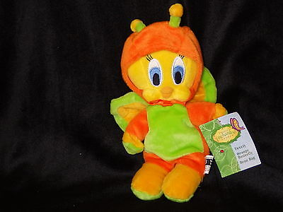 Tweety Butterfly bean bag plush toy cloth doll Looney Tunes Warner new with tags