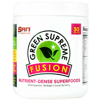 San GREEN SUPREME FUSION Superfood 30 Servings  Vitamins Minerals PROBIOTICS
