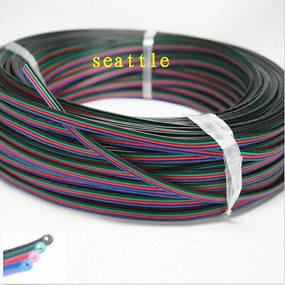 1-100m 4-PIN 22AWG RGB Extension Wire Cable Cord for 3528 5050 RGB LED Strip