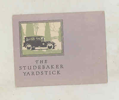 1924 Studebaker Big Six Mailer Brochure wu5225
