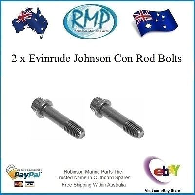 A Brand New Set x 2 Con Rod Bolts Evinrude Johnson 2/3/4/6cyl Engines  308186