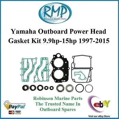 A Brand New Gasket & Seal Kit Suits Yamaha 9.9hp-15hp 1997-thru # 63V-W0001-00