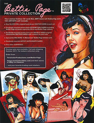 Bettie Page Private Collection Dealer Sell Sheet Promo