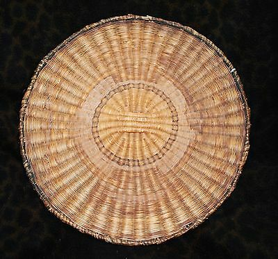 """Large Antique Hopi Wicker Indian Basket 16""""d from a New Mexico Collection"""