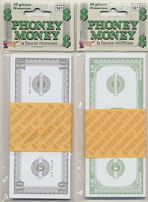 Fake Cash New FREE SHIPPING * Phoney Paper Money $100 Bills 50 Bills Total