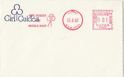 Australian Girl Guides 1982 Sydney cover with franking machine TRIAL postmark