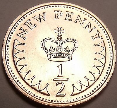 Cameo Proof Great Britain 1981 Half Penny~Only 100,000 Minted~Excellent~Free Shi