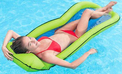 New Genuine Intex Pool Floating Mesh Lounge Chair Inflatable. Awesome quality