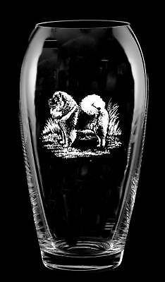 CHOW CHOW *DOG GIFT* Boxed 23cm GLASS TULIP VASE