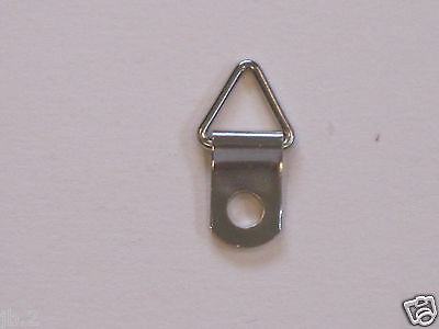 100 Triangle D-Ring Strap Hanger, Picture Framing, Small W/100 Screws