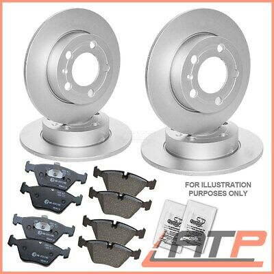 4x BRAKE DISC + SET PADS FRONT + REAR AUDI A4 B6 8E 00-04