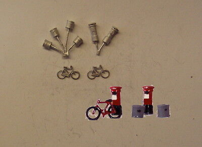 P&D Marsh N Gauge n Scale C22 Bikes/ Dustbins/ Postboxes castings require painti