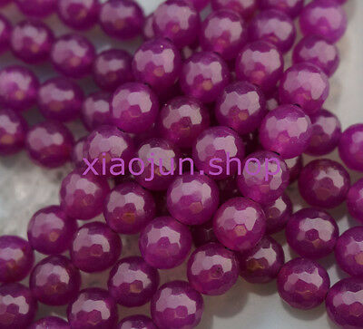 """8mm Rose Faceted Alexandrite Round Loose Beads Gemstone 15"""""""