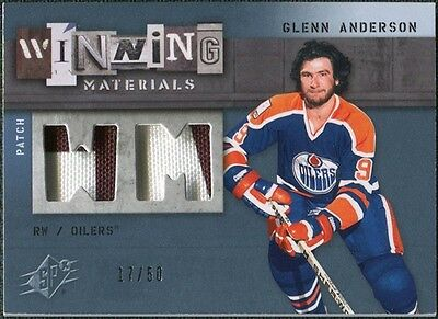 2009/10 UD SPx Winning Materials Spectrum Patches #WMGA Glenn Anderson /50