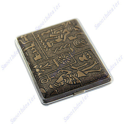 Hot Sale Egyptian Style Hard Metal Cigarette Box Case Holder For 16 Cigarettes