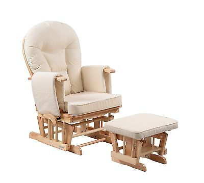 Sereno Natural Nursing Glider maternity gliding rocking chair with footstool