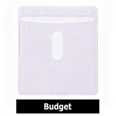 100 CD Double-sided Plastic Sleeve White Budget