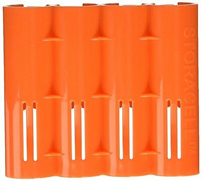 Storacell Powerpax 18650 Battery Caddy, Orange, 4-Pack