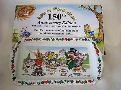 PAUL CARDEW ALICE IN WONDERLAND 150th ANNIVERSARY COOKIE TRAY OR CAKE PLATE~NIB