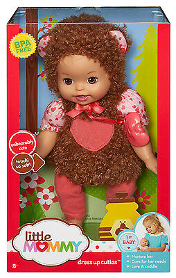Fisher Price Little Mommy Dress Up Cuties Unbearably Cute Bear Doll *new*