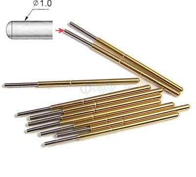 10pc P100-J1 Dia 1.36mm 180g Spring Test Probe Pogo Pin