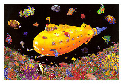 Yellow Submarine Blacklight Poster Print, 32x22