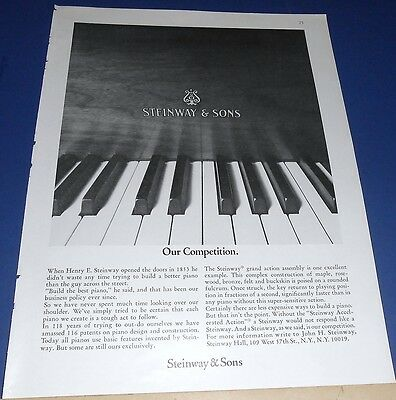 1971 Steinway Piano Ad ~ our competition ~ is a Steinway