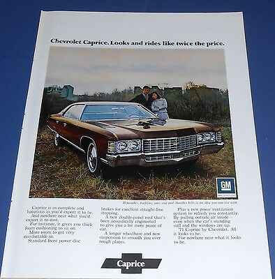 1971 Chevrolet Caprice Ad ~ all it looks to be