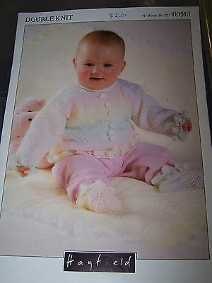 HAYFIELD - BABY/TODDLER SWEATER & BOOTEES 41-56cm chest - DK