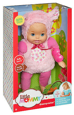 Fisher Price Little Mommy Dress Up Cuties Fluffy Bunny Baby Blp68 *new*
