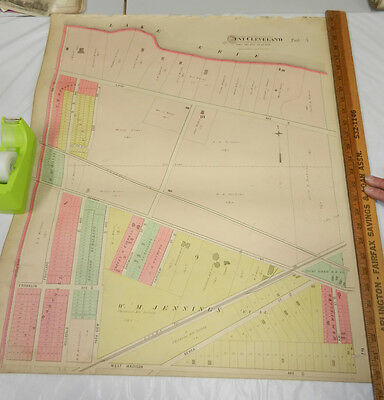 1892 COLOR Plat Map, CUYAHOGA County, OH//WEST CLEVELAND TOWNSHIP/PART#3 b/w #4