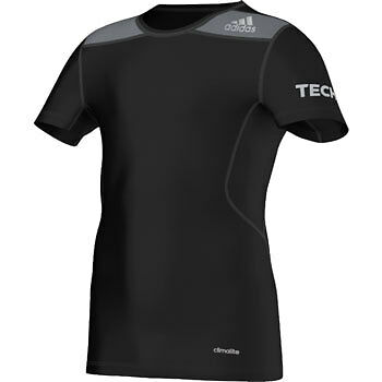 Adidas Tech-Fit Short Sleeve Compression Junior Top - Black