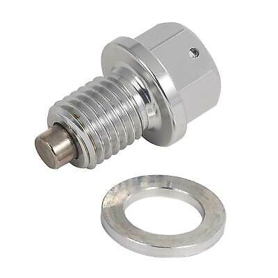 Warrior Car / Motorcycle Silver Oil Drain / Sump Plug Bolt - Magnetic