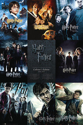 Harry Potter - Movie Series Collage Poster - 24x36 - Collector's Edition