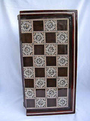 "Egyptian Inlaid Mother Of Pearl Wooden Chess Backgammon Board 16"" High Quality"