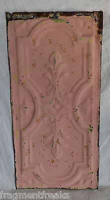 "6""x 12"" Antique Tin Ceiling Tile*SEE OUR SALVAGE VIDEOS* Vintage Pink Lm10"