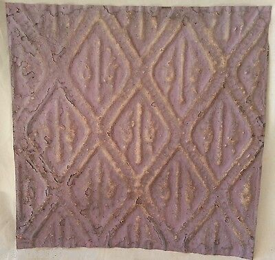 "12"" x 12"" Antique Tin Ceiling Tile *SEE OUR SALVAGE VIDEOS* Lilac Aa7"