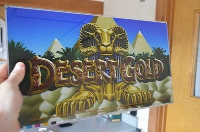 "Aristocrat Slot Machine Plexiglass ""desert Gold"" Aristocrat"
