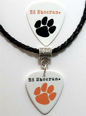 Ed Sheeran Paw Guitar Pick Double Sided Black Necklace + Plectrum - Pawprint