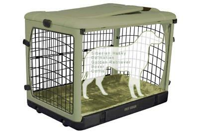 "Pet Gear 42"" Other Door Steel Crate Dog/Cat Kennel with Travel Bag and Plush Pad"