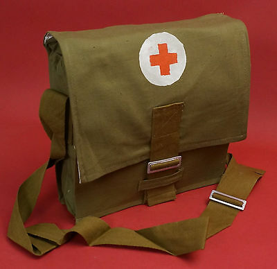 Soviet Army MEDIC BAG First Aid Red Cross w Shoulder Strap like Russian WW2 Nice